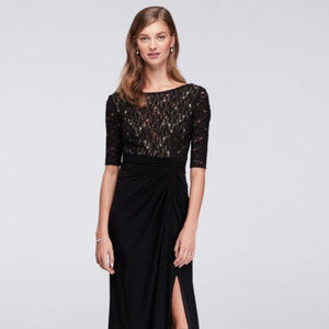 Sparkly Lace Bodice Dress with jersey skirt